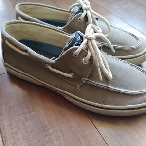 Sperry Top-Sider Men's boat shoes khaki size 9.5